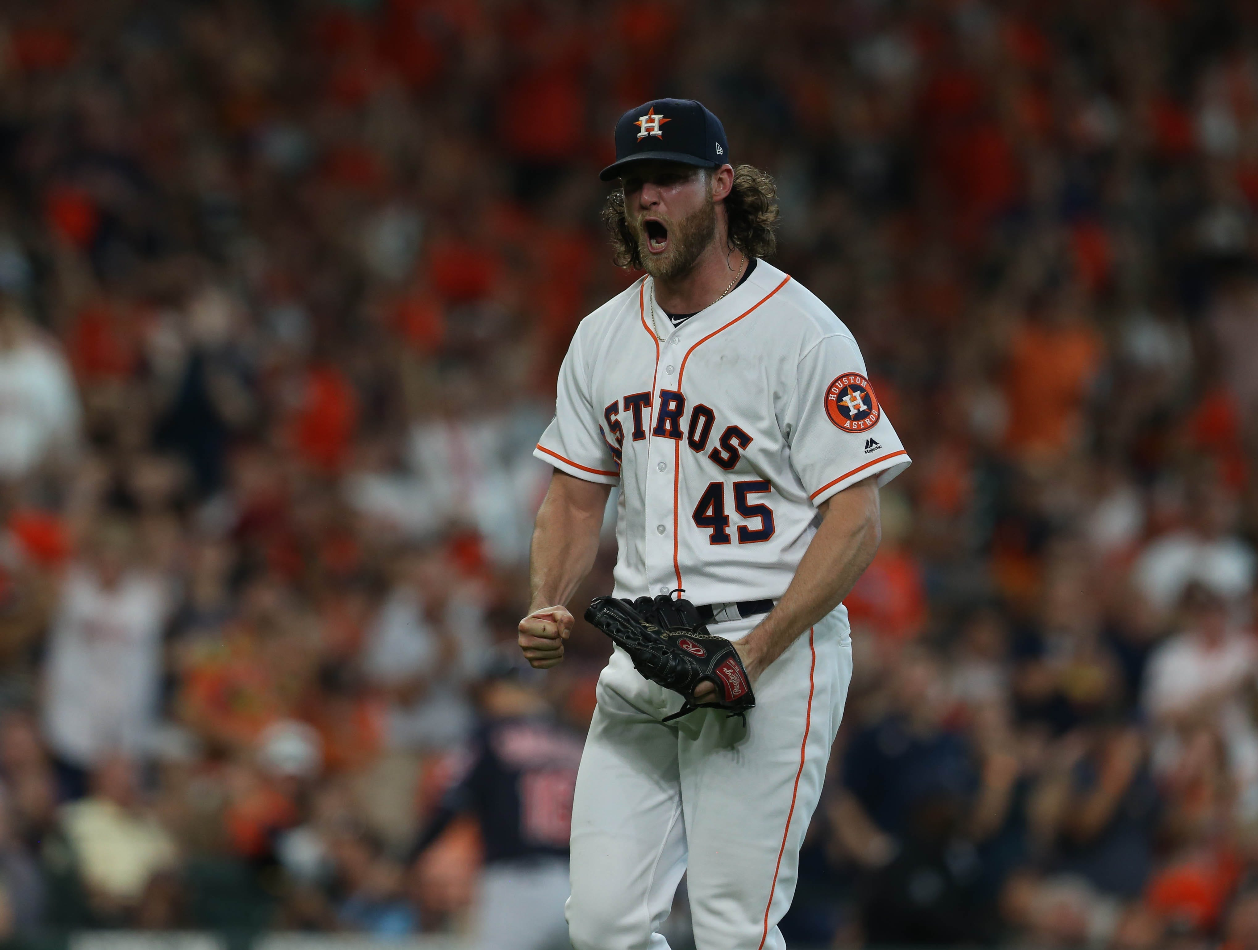24. Gerrit Cole, Houston Astros starting pitcher.