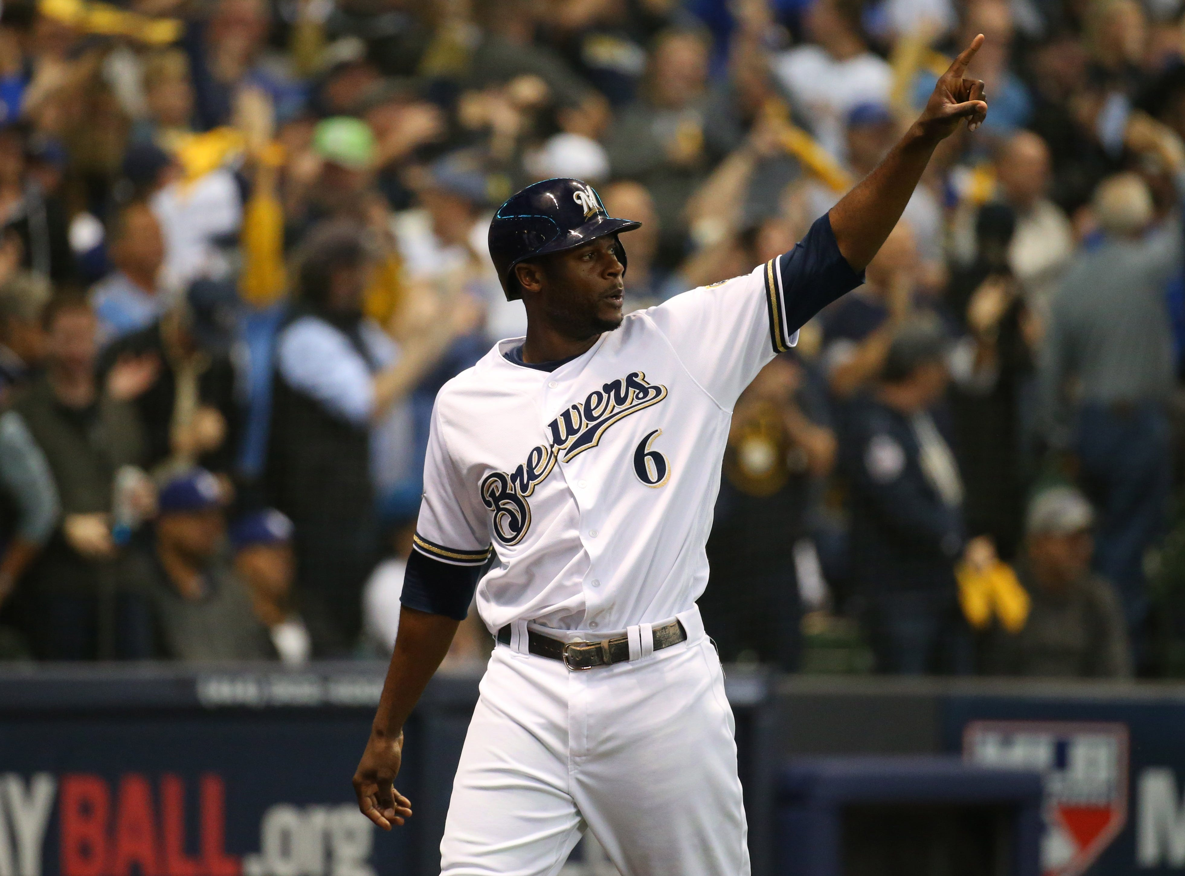 47. Lorenzo Cain, Milwaukee Brewers outfielder.