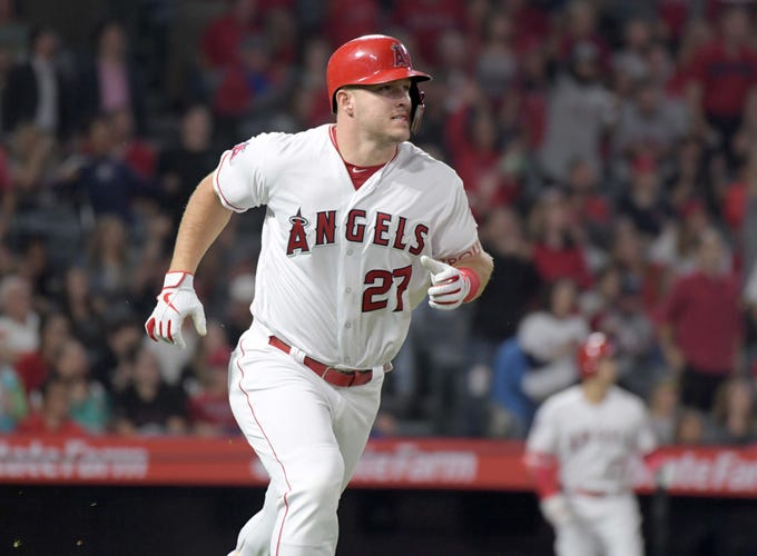 1. Mike Trout, Los Angeles Angels outfielder.