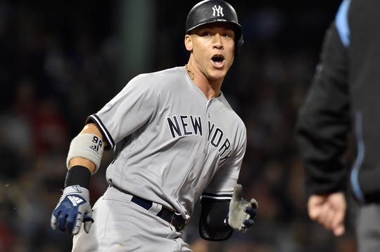 20. Aaron Judge, New York Yankees outfielder.