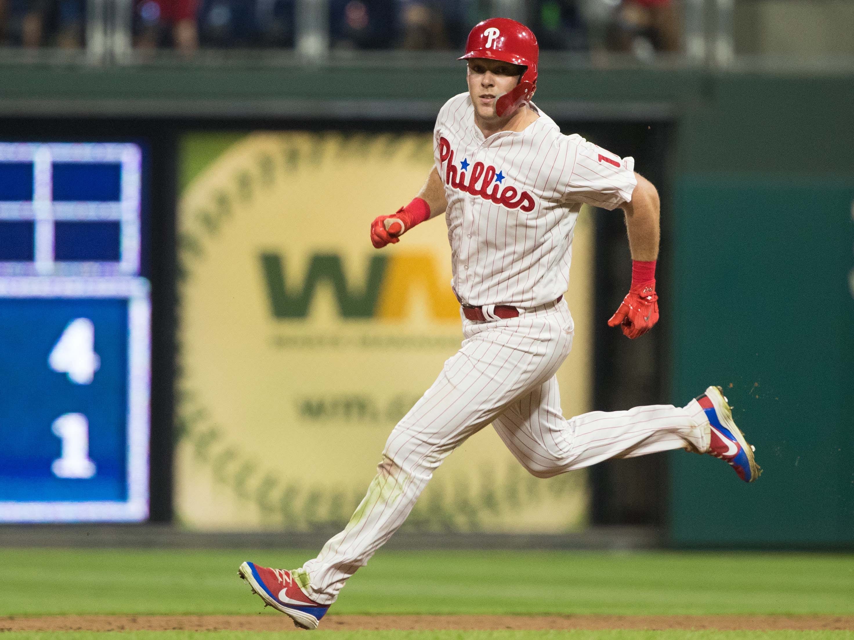46. Rhys Hoskins, Philadelphia Phillies first baseman/outfielder.