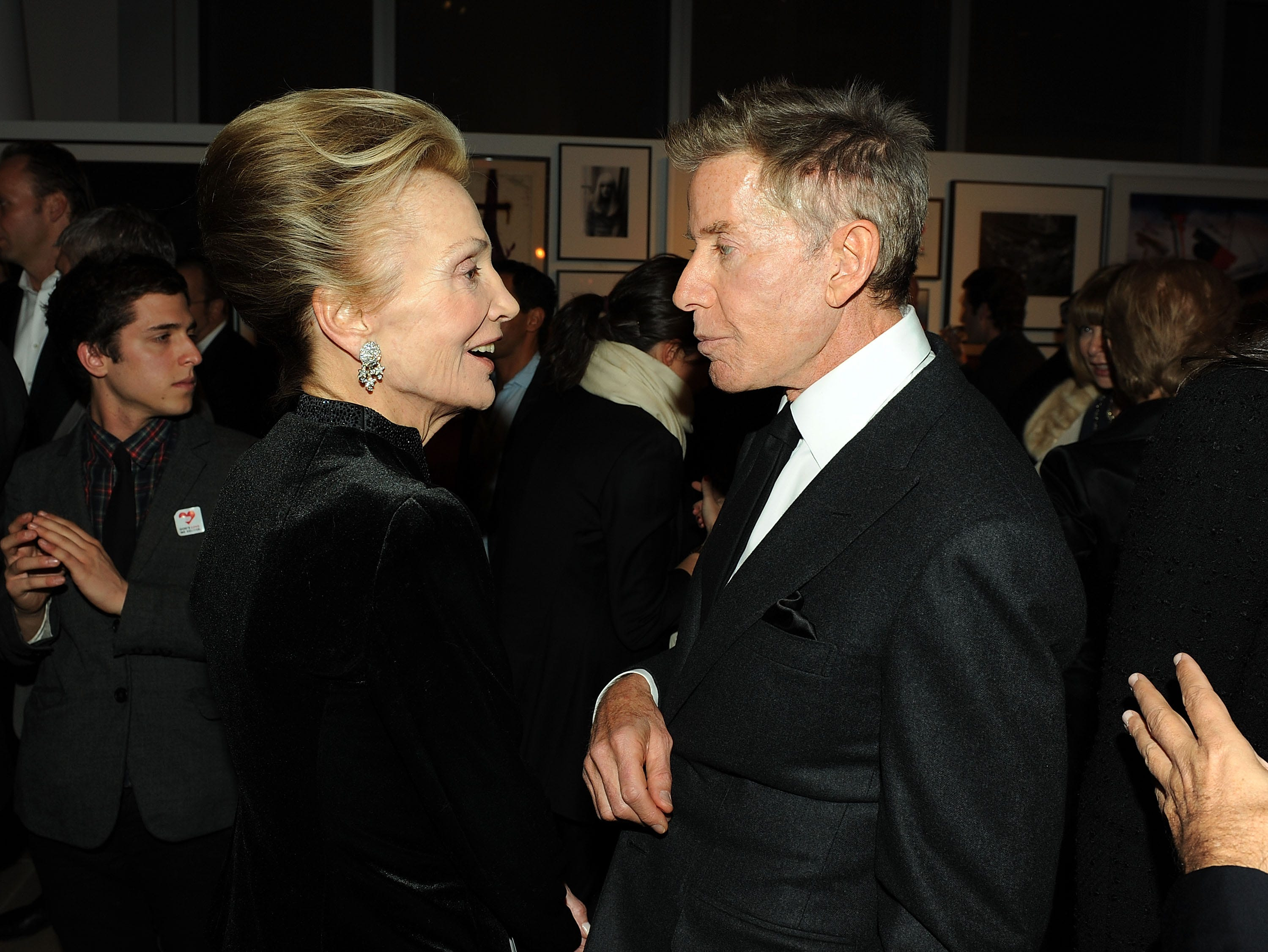 Socialite Lee Radziwill and designer Calvin Klein attend God's Love We Deliver 2009 Golden Heart awards at the IAC Building on October 19, 2009 in New York City.