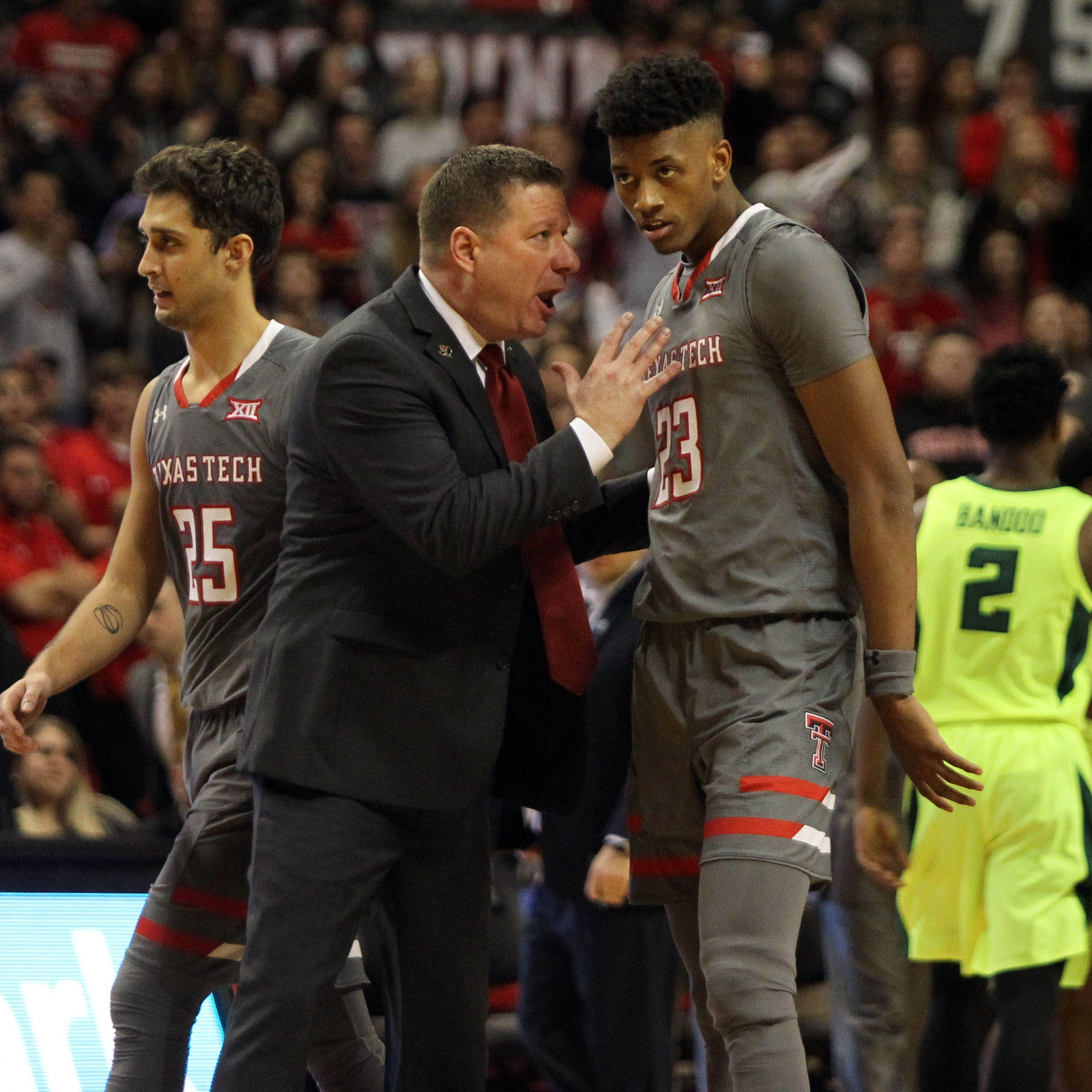 Texas Tech Red Raiders head coach Chris Beard...