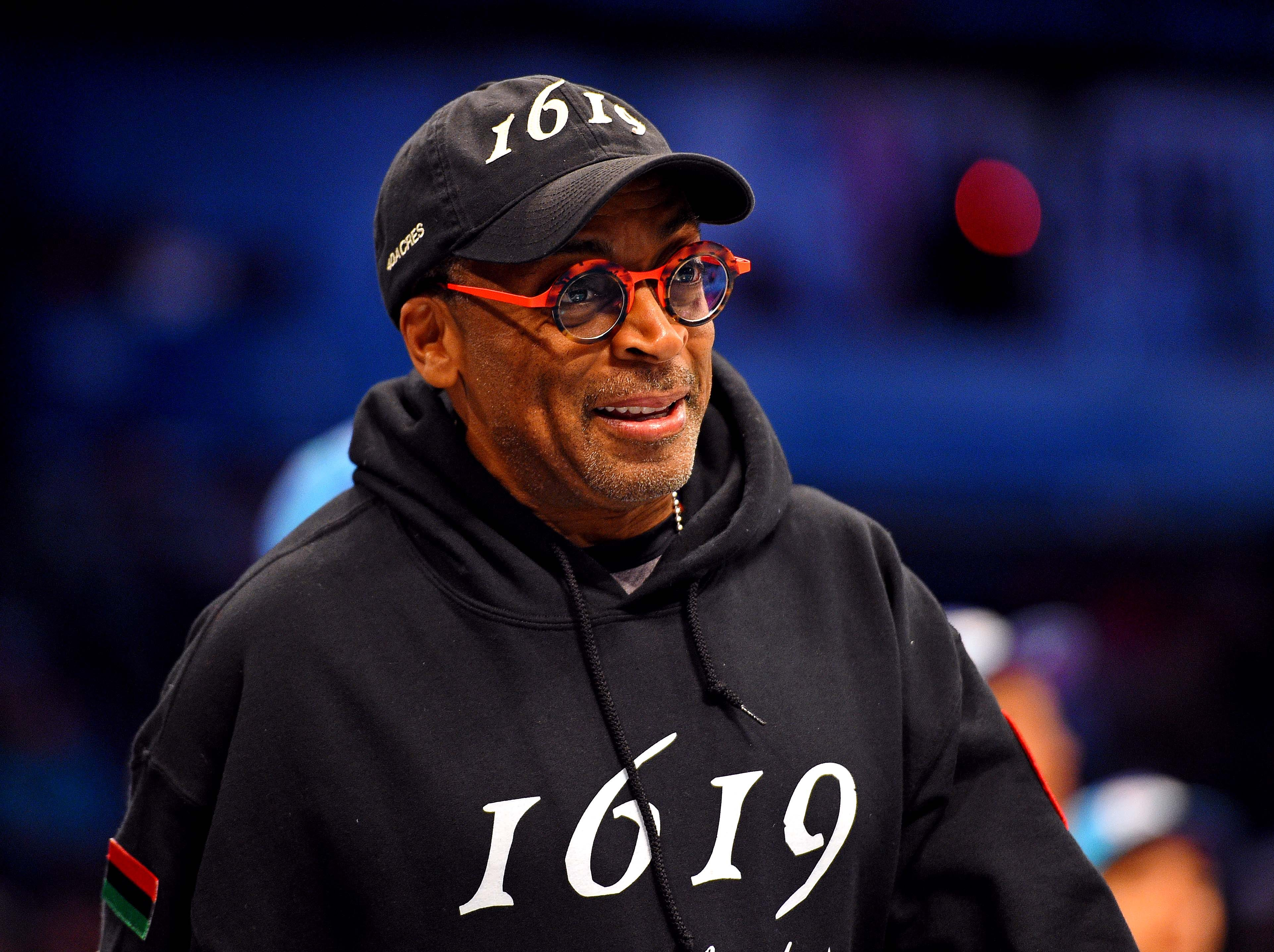 Spike Lee before the All-Star Rising Stars game.