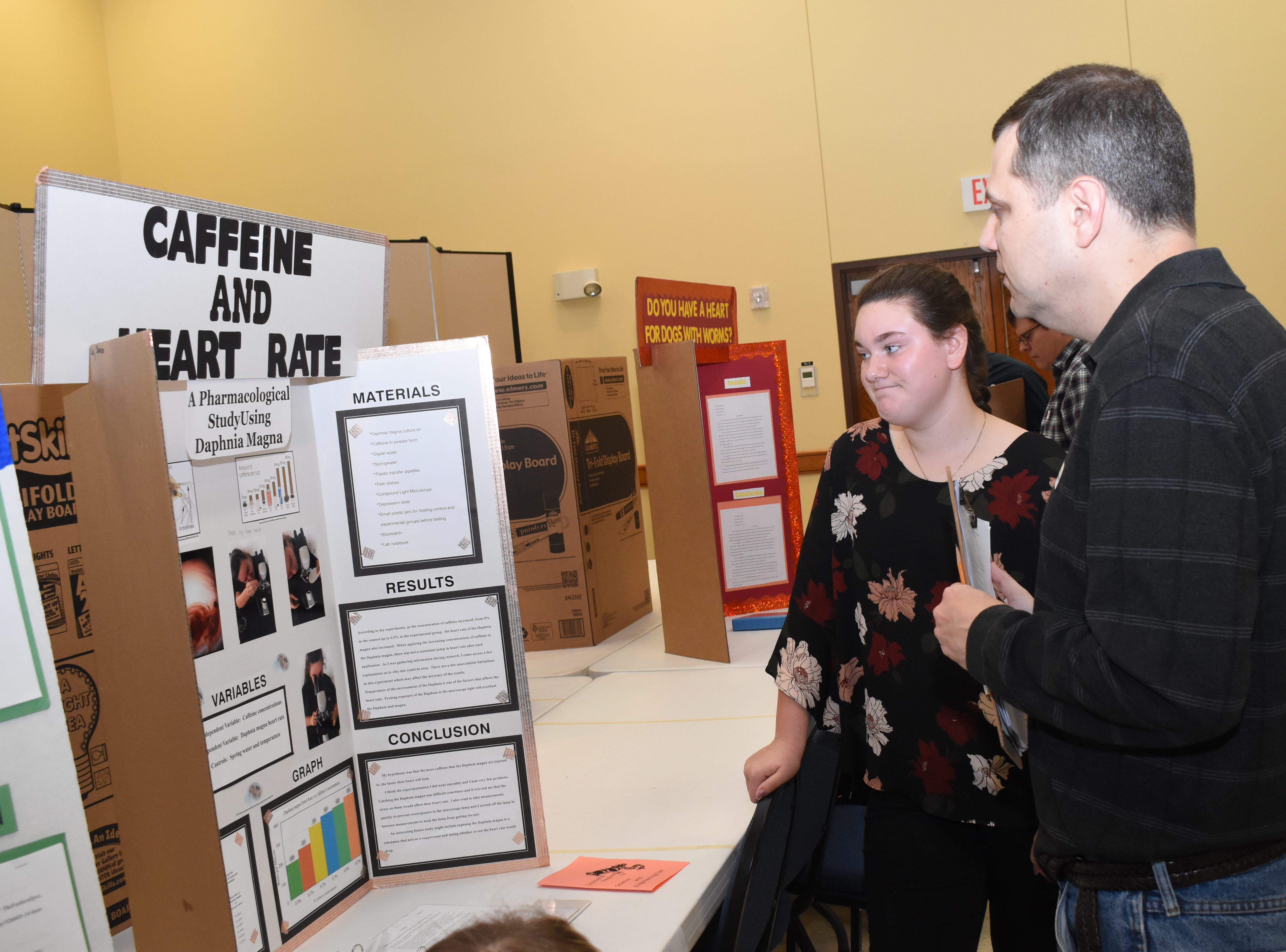 The Louisiana Region IV Science and Engineering Fair was held Saturday, Feb. 16, 2019 at Louisiana State University of Alexandria. Students from Grant, Avoyelles, and Rapides parishes competed in numerous categories. Students displayed project boards and presented experiments to the judges.