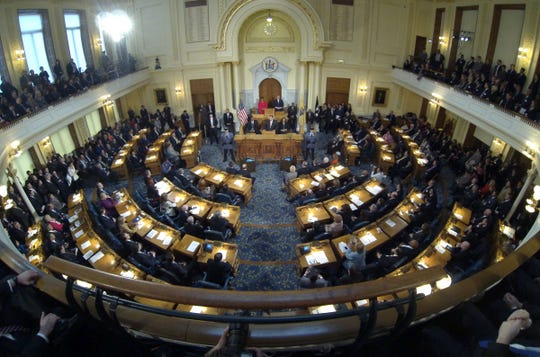 An Asbury Park Press file photo of the General Assembly chamber within the Statehouse in Trenton.