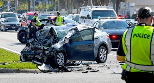 Two people injured in Melbourne crash