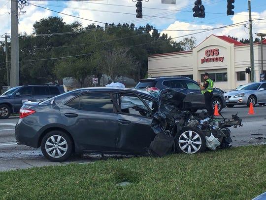 Traffic crash at Wickham leaves two injured.