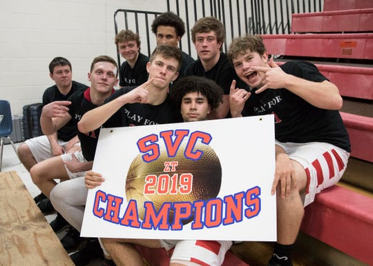 The Zane Trace Pioneers defeated the Adena Warriors 58-38 on Friday, Feb. 15, 2019 at Zane Trace High School to clench the school's first gold ball since it's last undefeated SVC season in 2001.