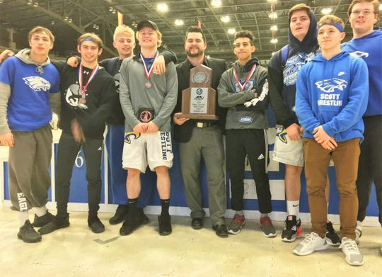 Scott High School finished second in the state in the small-school division Feb. 16, 2019.