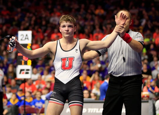Union's Jack Thomsen was a state champ last year. He helped the Knights win the North Iowa Cedar League conference tournament this past weekend.