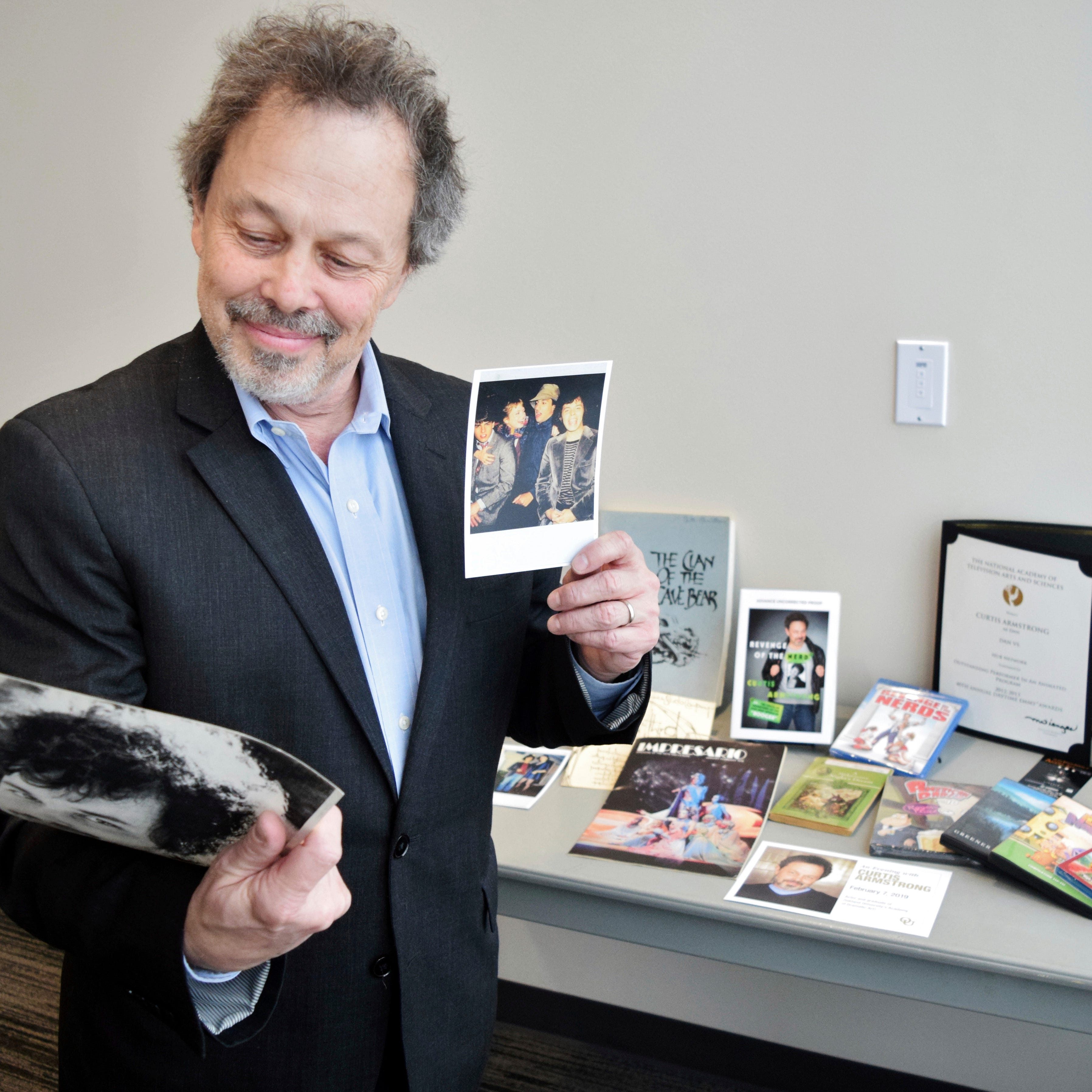 Actor Curtis Armstrong gifts film, TV mementos to Oakland University