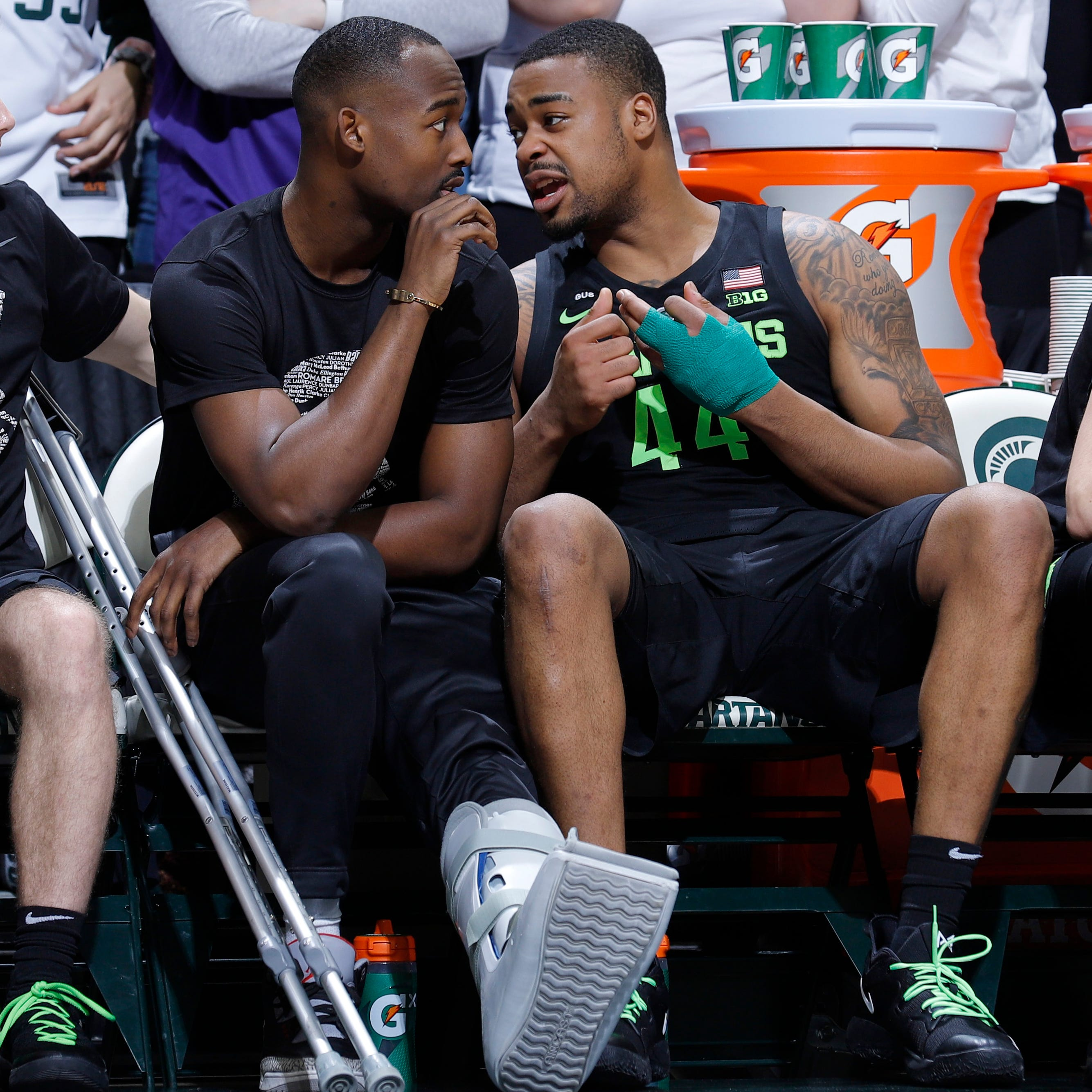 Michigan State's Nick Ward has surgery on hand; no timetable to return