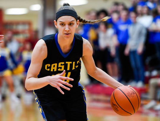 Castle's Jessica Nunge (30) was named the SIAC Female Athlete of the Year for the Class of 2019.