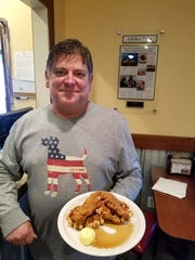 Jeff Schelhorn of Hawg N Sauce with an offering from his brand new Saturday brunch menu.