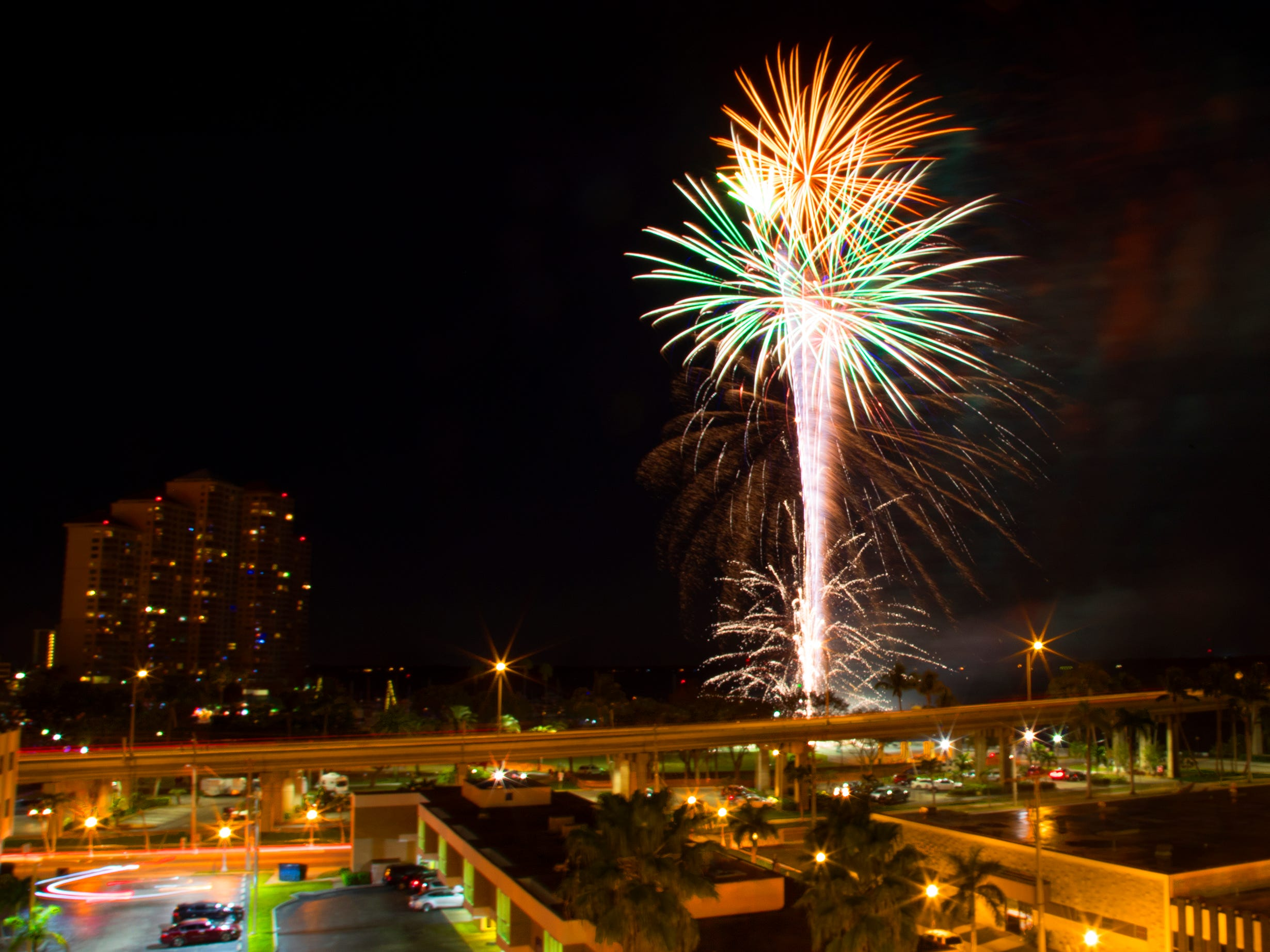 The Edison Festival of Light fireworks show illuminates Centennial Park on Saturday in downtown Fort Myers.