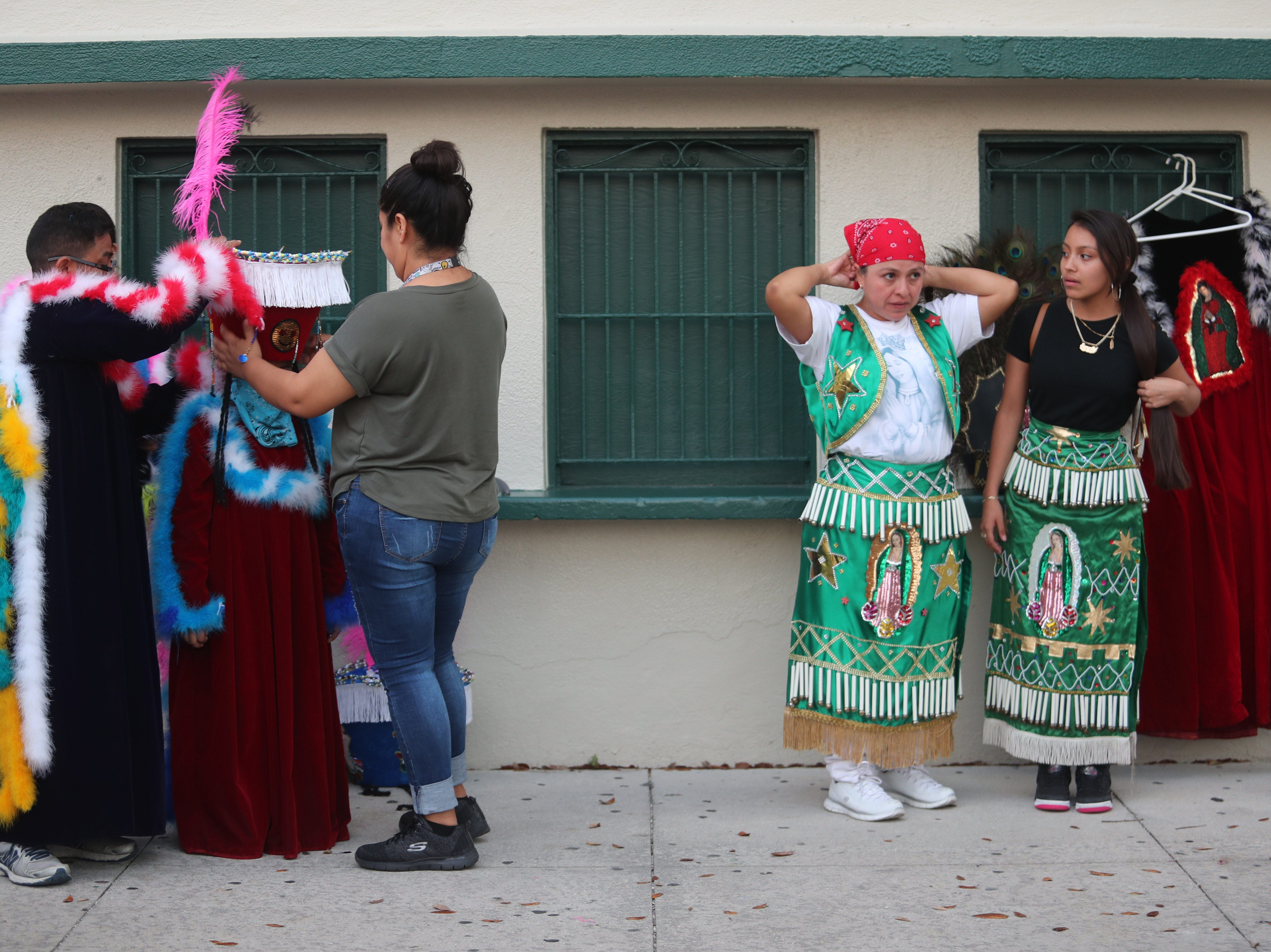 Participants in the Edison Festival of Light Grand Parade wait for the parade to begin on Saturday, Feb. 16, 2019, at the staging area at  Fort Myers High School.