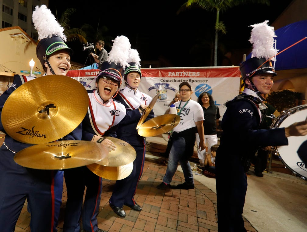 A variety of marching bands performed and entertained the crowds along the route of the    Edison Festival of Light Grand Parade on Saturday, Feb. 16, 2019, in Fort Myers.
