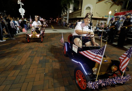 A scene from the 2019 Edison Festival of Light Grand Parade