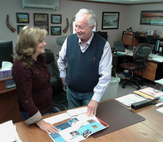 Curtis and Lana Stutzman operate a fairly large-scale international student exchange program from this office in their Kalona home, under contract with the U.S. Department of State.