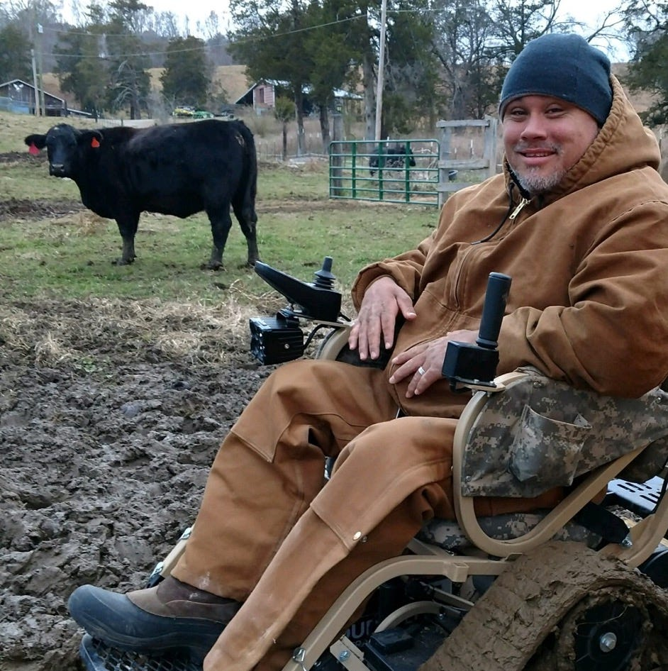 Veteran to run farm, dog training business from $16,000 all-terrain wheelchair
