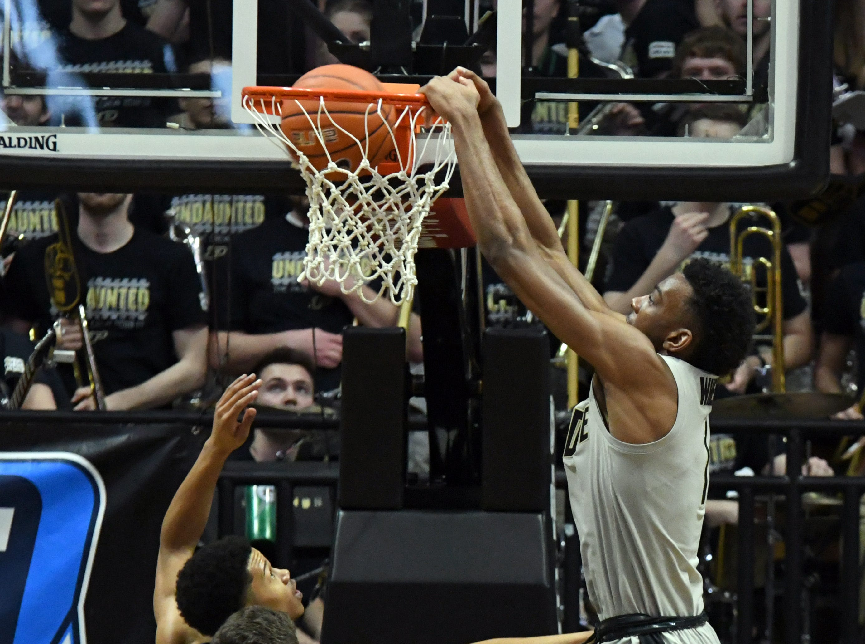 By Frank Oliver for the Journal and Courier -- Action from Purdue's 76-64 win over Penn State at Purdue on Saturday February 16, 2019.