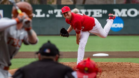 Starting pitcher Dalton Horton got the win for UL as the Cajuns beat Texas 8-6 on Sunday.