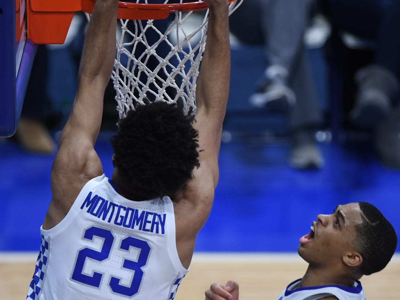 UK F EJ Montgomery gets a put back dunk during the University of Kentucky mens basketball game against Tennessee at Rupp Arena in Lexington, Kentucky on Saturday, February 16, 2019.