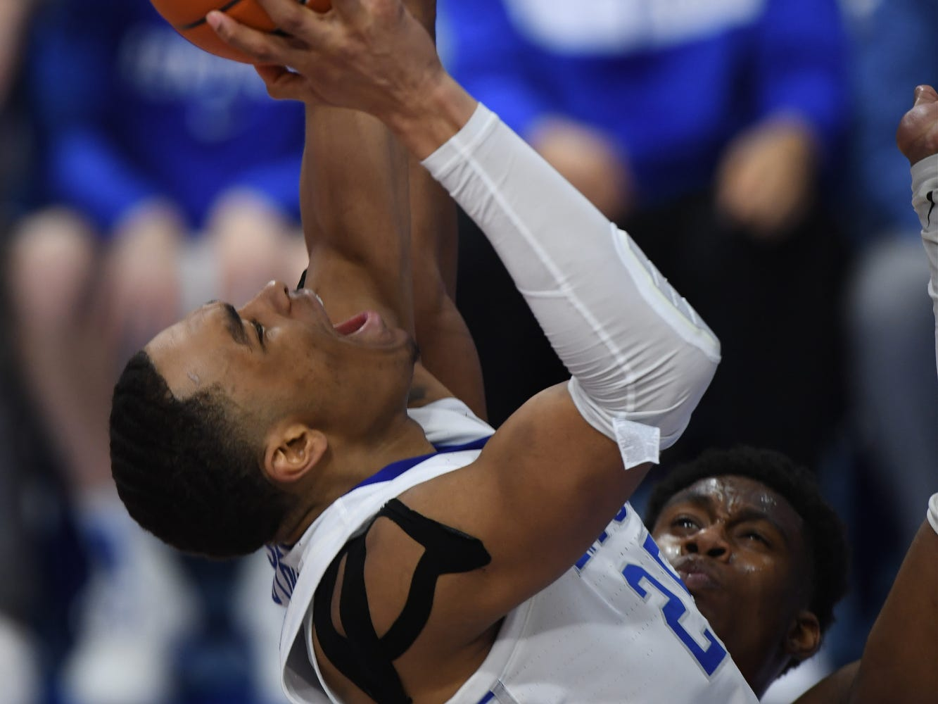 UK F PJ Washington goes up strong with the ball during the University of Kentucky mens basketball game against Tennessee at Rupp Arena in Lexington, Kentucky on Saturday, February 16, 2019.