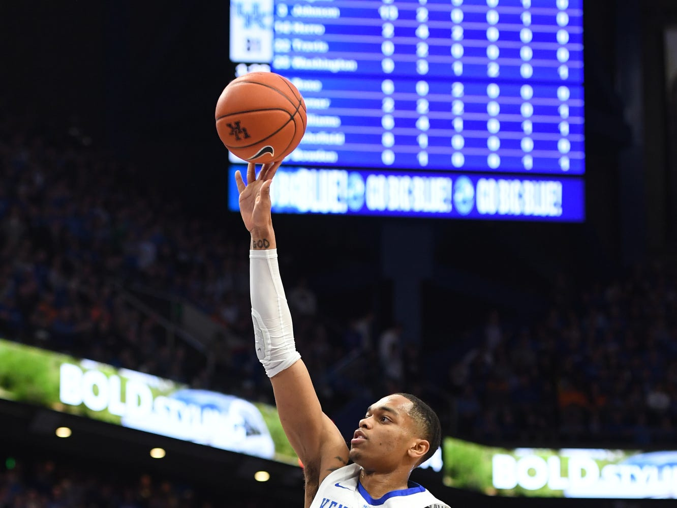 UK F PJ Washington shoots during the University of Kentucky mens basketball game against Tennessee at Rupp Arena in Lexington, Kentucky on Saturday, February 16, 2019.