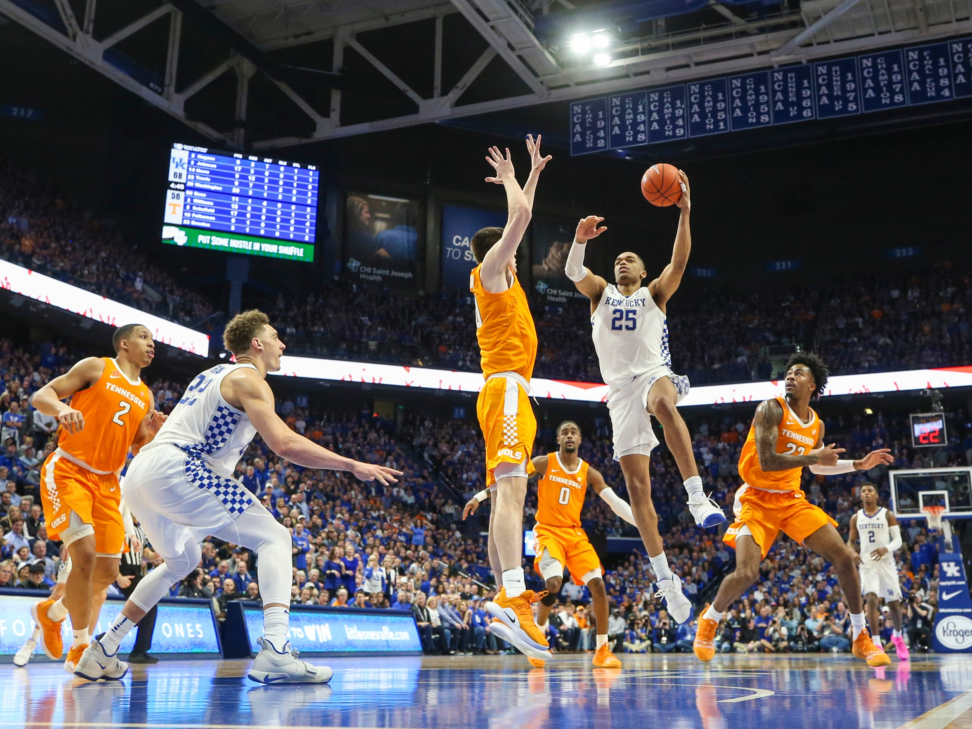 Kentucky's PJ Washington Jr scored 23 points in the Wildcats' win over No. 1 Tennessee 86-69 Saturday night. Feb. 16, 2019