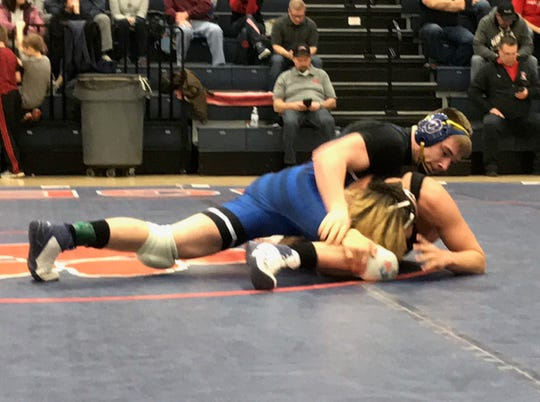 Ontario junior Colton Turnbaugh beat Marion Pleasant's Michael Phelps 15-2 for the 152-pound title in the Mid-Ohio Athletic Conference tournament.