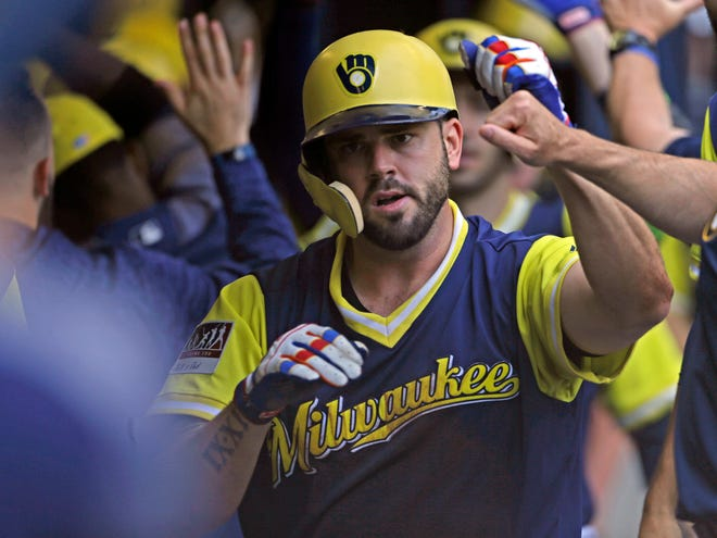 Mike Moustakas  is back with the Brewers. He agreed to a one-year deal believed to be worth $10 million.