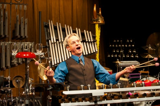 """Michael Lorenz does the voodoo he does so well in the Skylight Music Theatre's 2012 production of """"Things That Go Ding!"""" The show is back starting Friday."""