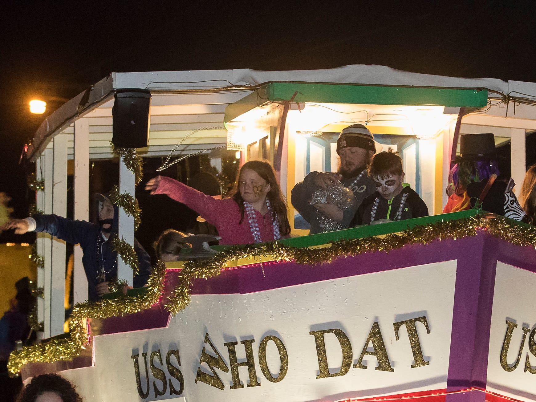 The Krewe of Janus held its annual Mardi Gras parade through West Monroe and Monroe, La. on Feb. 16.
