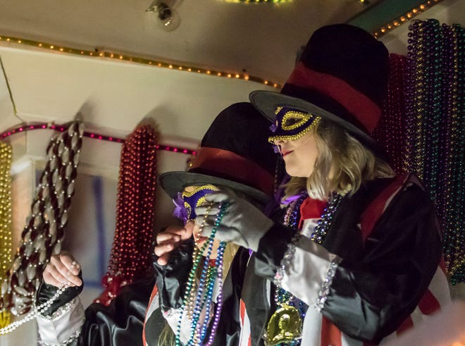 The Krewe of Janus held its annual Mardi Gras parade through West Monroe and Monroe, La. on Feb. 16.