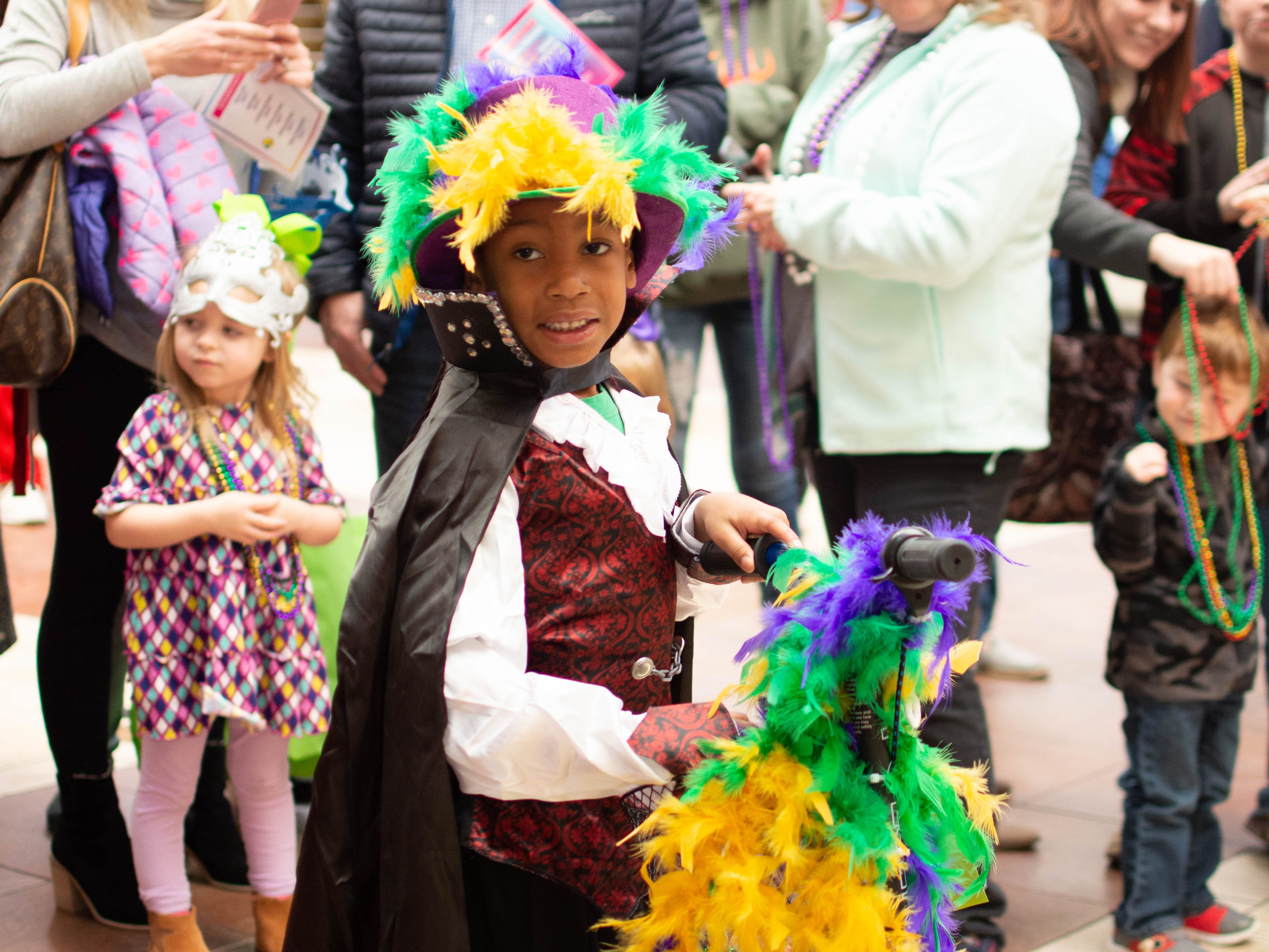The Krewe of Janus held a children's Mardi Gras parade at the Pecanland Mall in Monroe, La. on Feb. 16.