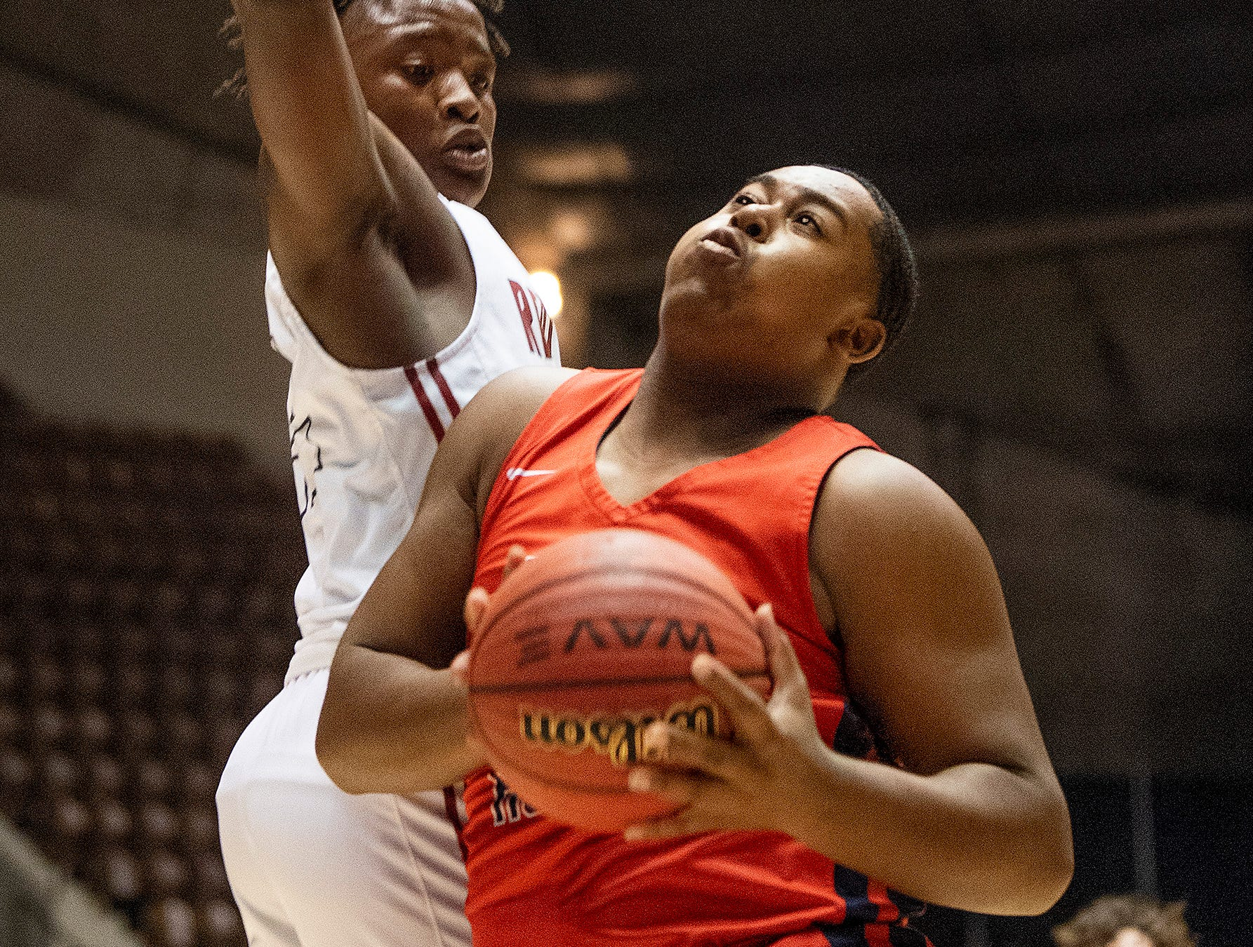Pike Road's Jeremiah Frazier grabs a rebound against  Slocomb during AHSAA regional action Garrett Coliseum in Montgomery, Ala., on Saturday February 16, 2019.