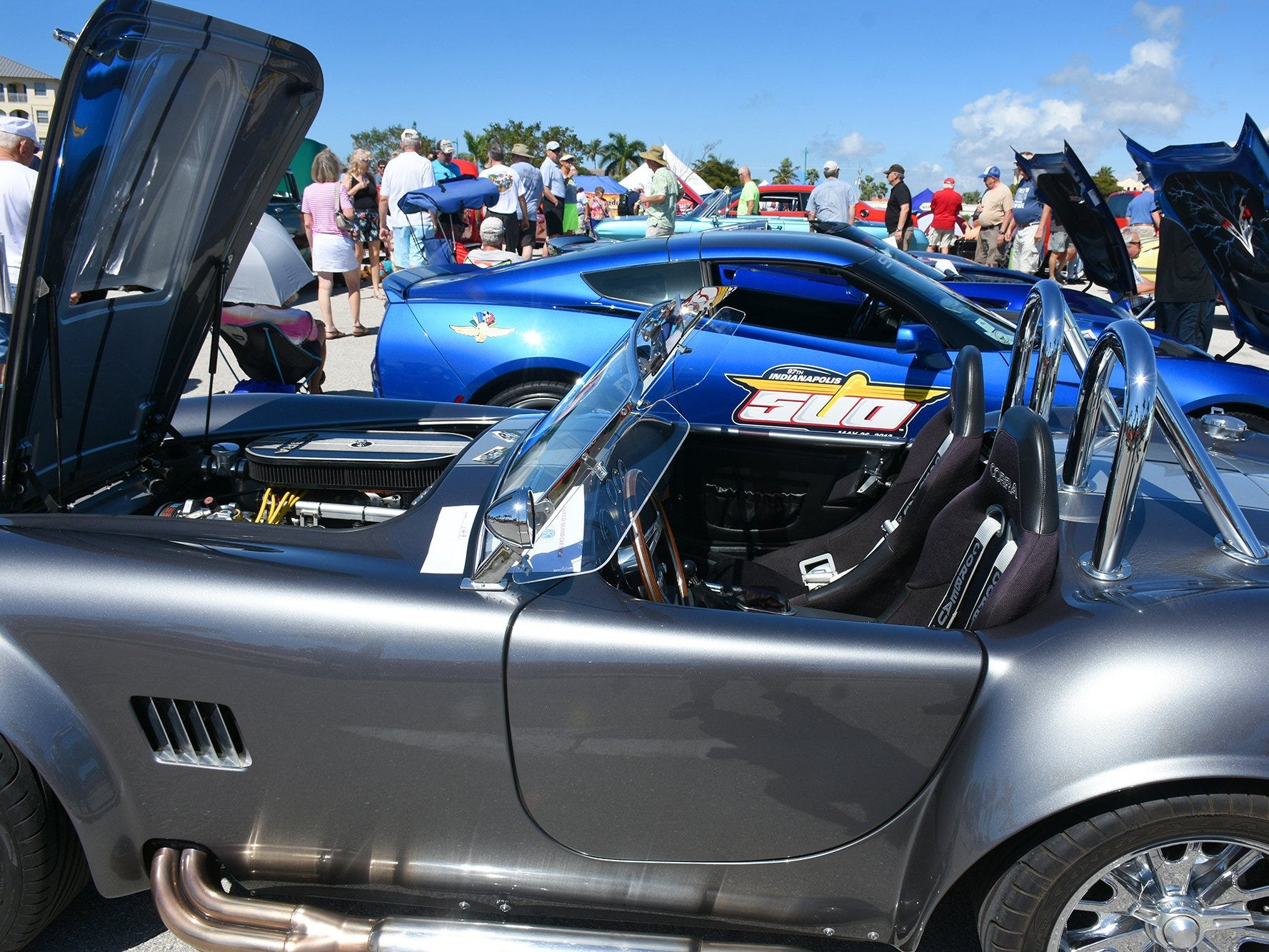 Nick Smith, a professional restorer, displayed this 1966 Shelby Cobra. The annual Kiwanis car show brought 170 collectible cars and thousands of car enthusiasts to Veterans Community Park on Marco Island Sunday.