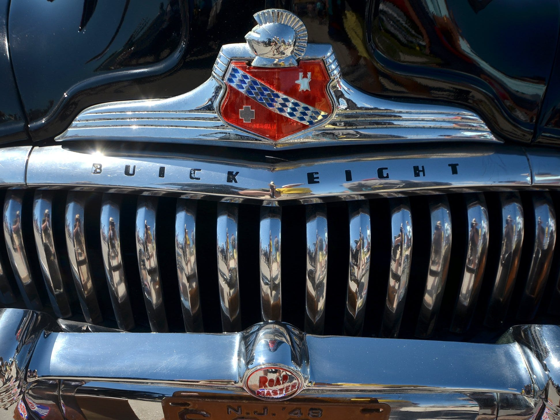 The grille of a classic Buick Roadmaster. The annual Kiwanis car show brought 170 collectible cars and thousands of car enthusiasts to Veterans Community Park on Marco Island Sunday.