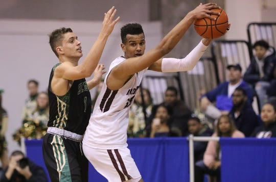 Don Bosco's Owen McGlashan (right) and St. Joseph's Chris Manon were among the top Non-Public A players in North Jersey boys basketball this season.