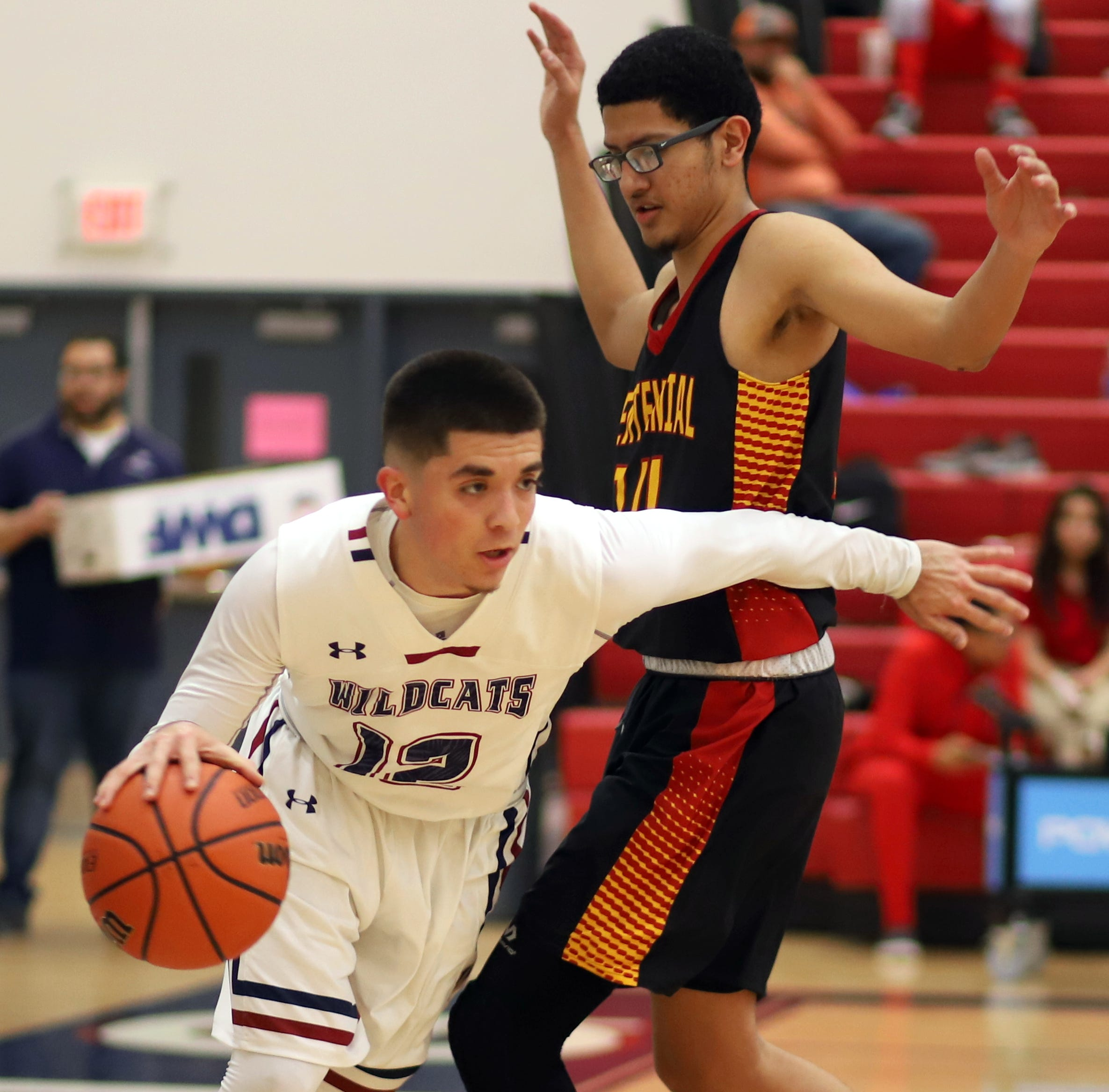 Centennial High Hawks rout Deming High Wildcats in District 3-6A boys' basketball