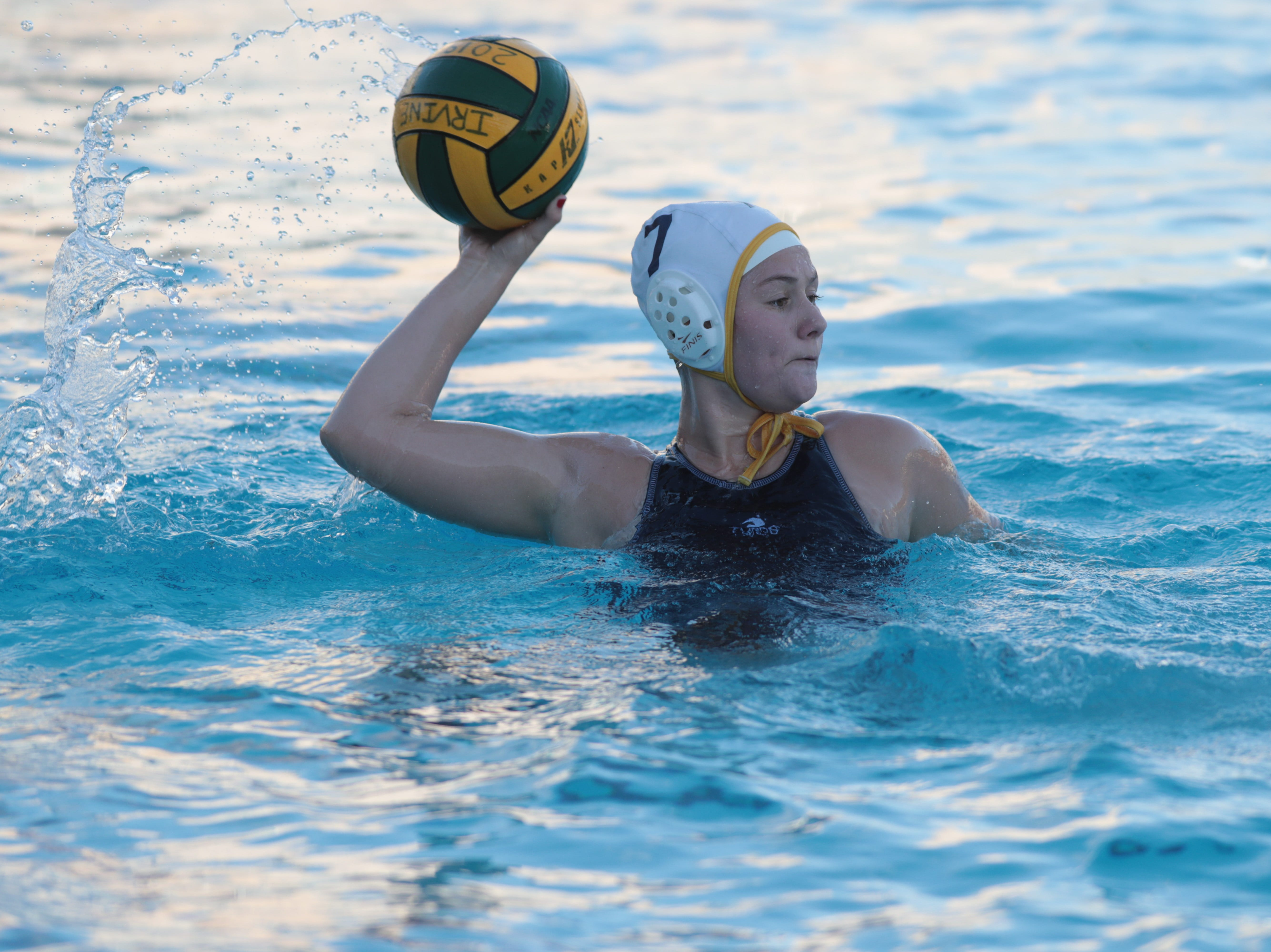 Lauren Olivier plays for La Quinta water polo at the CIF Southern Section Division 4 championships, Irvine, Calif., Saturday, February 16, 2019.