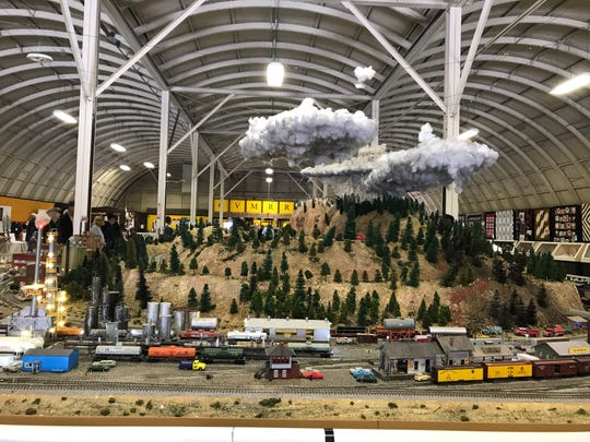 The Coachella Valley Model Railroaders showed off their permanent display at the Riverside County Fairgrounds.