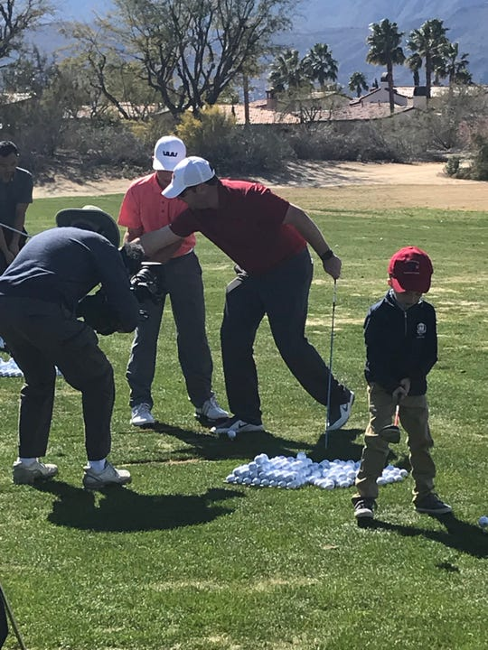 Junior golfers get instruction from some of the top college golf coaches in the country at the Prestige presented by Charles Schwab Sunday at PGA West.