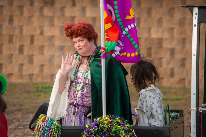 Milton held its 1st Annual Emerald Coast Krewe of Airship Pirates Milton Mardi Gras Parade February 16,2019.
