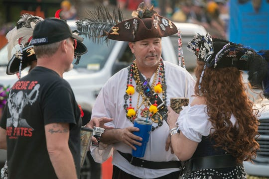 The Emerald Coast Krewe of Airship Pirates hosts the Milton Mardi Gras Parade on Feb. 16, 2019.