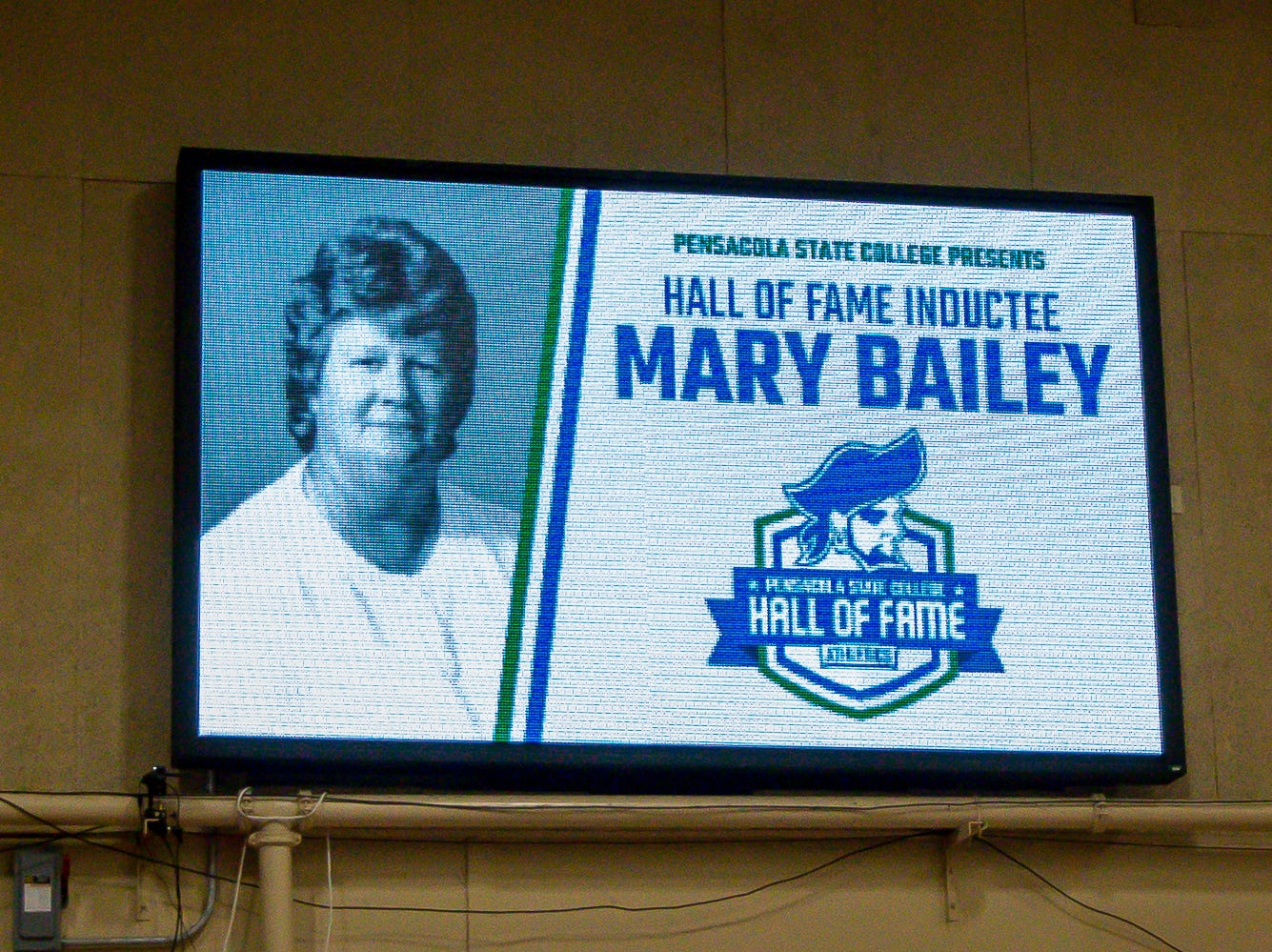 Mary Bailey is posthumously inducted into Pensacola State College's inaugural Athletics Hall of Fame induction ceremony on Saturday, February 16, 2019, in the Hartsell Arena on the main campus. A 1967 PSC graduate, she was the college's first head softball coach from 1982-94. In 1988, her team won the NJCAA Div. I championship and she also was named the National Softball Coach of the year.