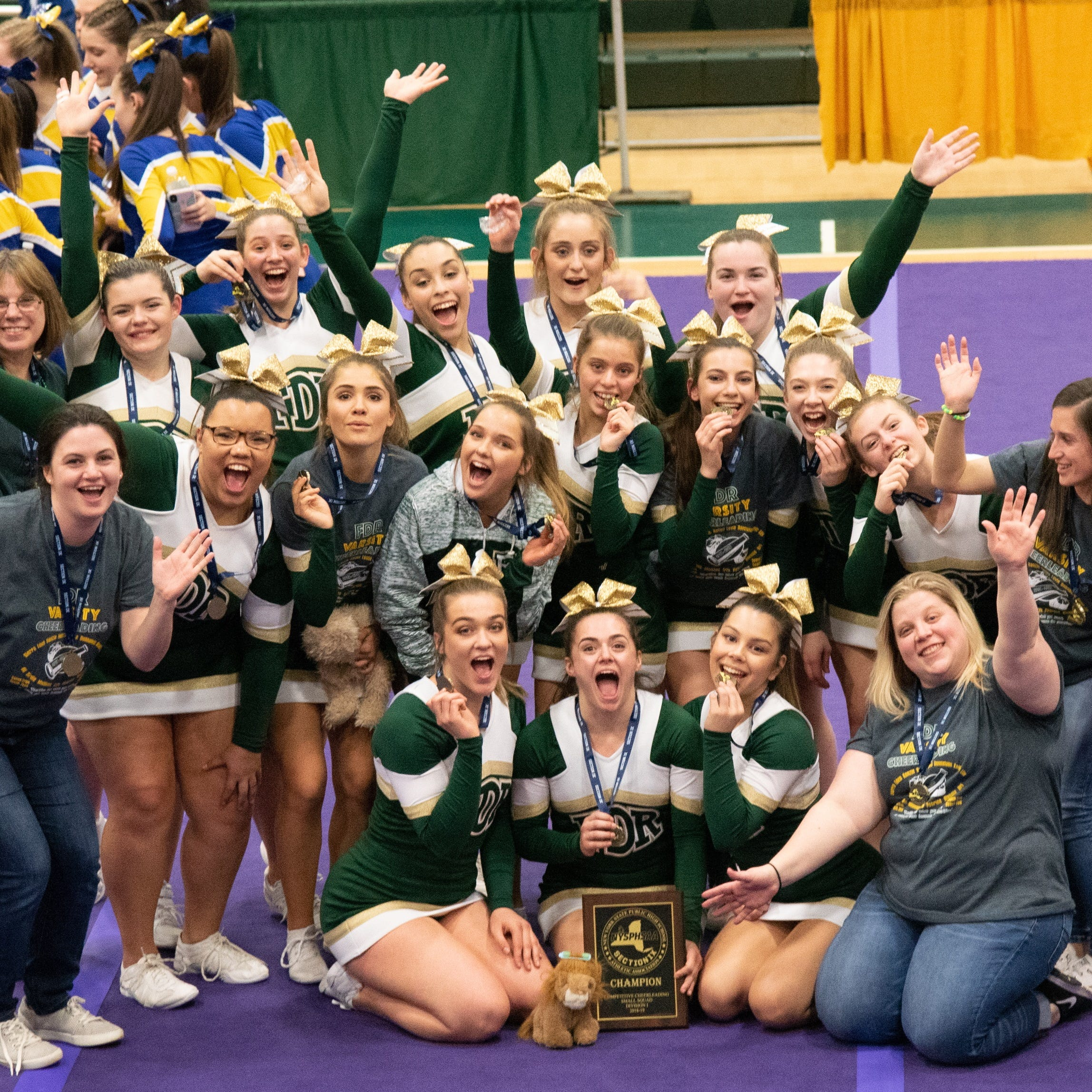 Roosevelt cheer overcomes adversity, captures third straight Section 9 title