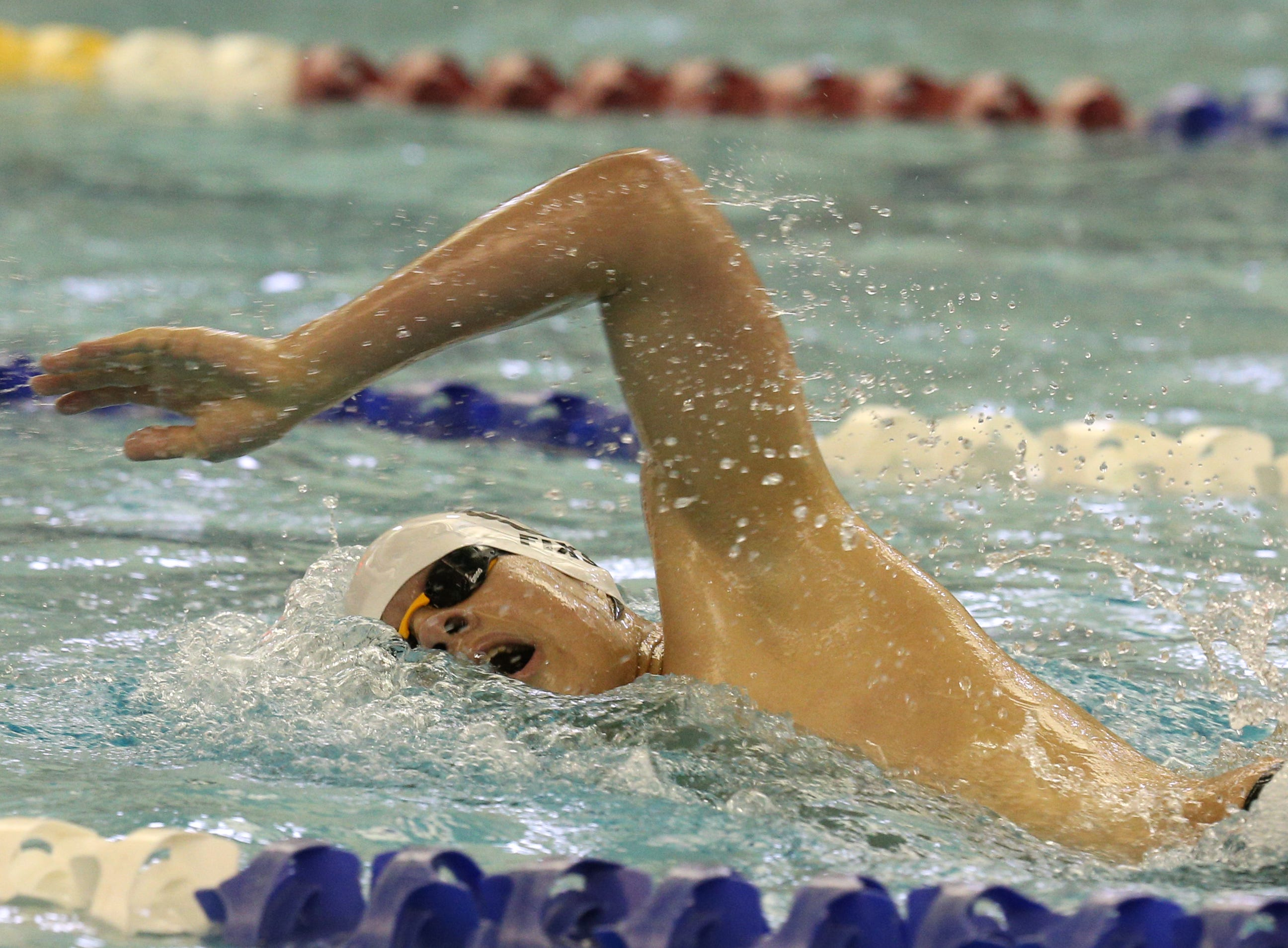 Jordan Fixsen of Penfield swims in the 200-yard freestyle for Penfield.